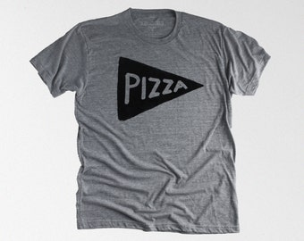 Father's Day Gift - Men's Pizza Shirt - graphic tee - dad gift - mens funny tshirt - husband gift for him - american apparel tri blend shirt