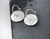 Modernist Coin silver earrings