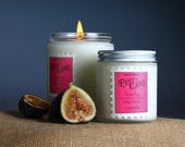 Soy candle, Fig Berry, First Fig Post Card, container candle, scented, candle gift, gift box, fruit scented, MelodiePerfumes,