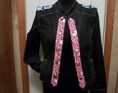 Steampunk Military Jacket with Union Jack & Gold Buttons - Junk Gypsy Style - Denim - Medium