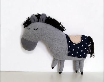 "THE ROYAL PONY, stuffed animals, stuffed pony, stuffed horse, kids gift ideas, baby shower gift, kids toys, stuffed toys,  13"" 33 cm"