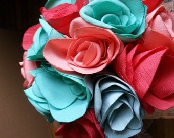 Spring Love Fabric Rose Bouquet