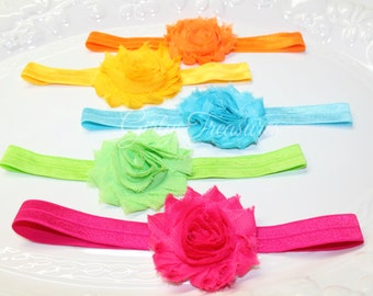 Baby Flower Headband Set. baby headbands. girl headbands. photo prop. baby shower gift.