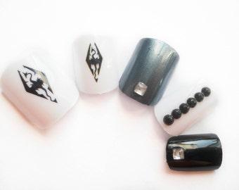 Fake Nails, Dragon Nails, 3D Nails, Press on Nails, Acrylic Nails, Gamer Nails, Dragon, Artificial Nails, False Nails, Custom Nails