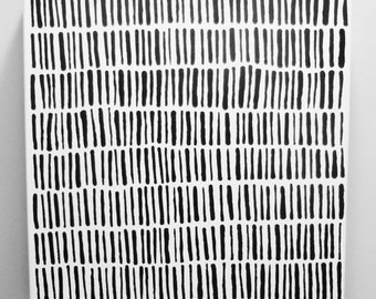 GRASS 20 x 20 inch Canvas Original Black and White Painting Modern Minimalist Painting Fine Art Large Acrylic Painting Abstract LYNDA BLACK