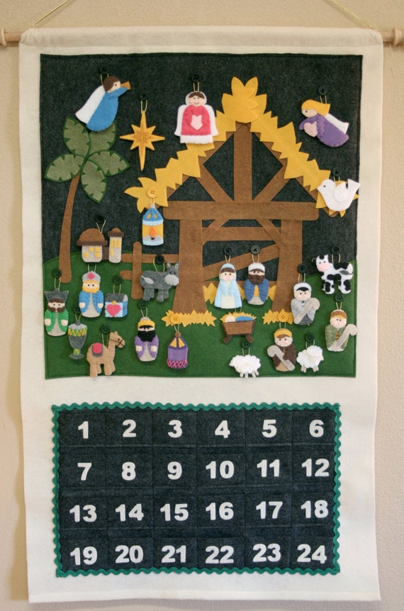 Handmade Nativity Advent Calendar
