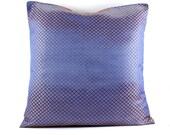 Decorative throw Pillow Cover  Silk Pillow 18x18 Navy Blue pillow Accent Pillow Sofa Pillow Couch Pillow Designer Pillow  Houseware.