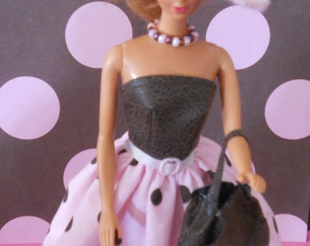 Sundress combo with jewelry, hat, purse & shoes