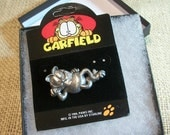 Garfield the Cat Collectible Garfield Pin, Wearable Art, Animation Character Cat Jewelry Pin by Paws Inc Garfield! Clasp Pin Paperink