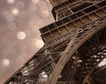 Paris Photography, Eiffel Tower Sepia Prints, Surreal Eiffel Tower Wall Photos, Eiffel Tower Wall Decor, Paris Eiffel Tower Architecture Art