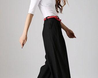 Wide Leg Pants-Slacks-Palazzo Pants-Boho Pants-Gypsy Pants-Hippie Pants-Linen Pant-Linen Pant Woman-Maxi Pant-Linen-Woman Linen Pant-873