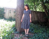 vintage dress Laura Ashley soft cotton Floral 40s style 12