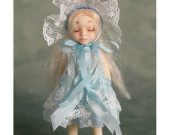 OOAK Candy Smoothie Miniature Doll - Tria -  Baby Blue Set