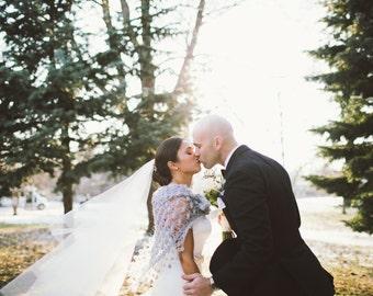 Grey Shawl,Bridal Cape ,Bridal Shawl, Wedding Accessories,Grey Shrug,Crochet Shawl, Bridal Bolero, Bridal Wrap, Bridal Cover up,Wedding cape
