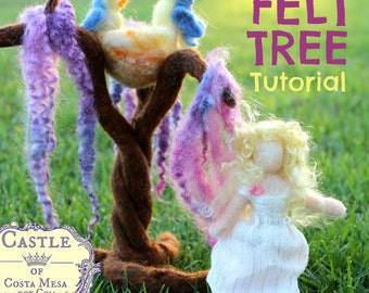 Felt Tree Tutorial by Castle of Costa Mesa. JPEG file. Step-by-step pictorial instructions for making a Versatile Tree for All Seasons.