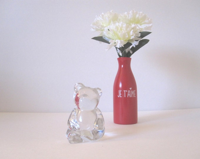 CLEARANCE Vintage Crystal Bear Figurine Paperweight Collectible by Princess House
