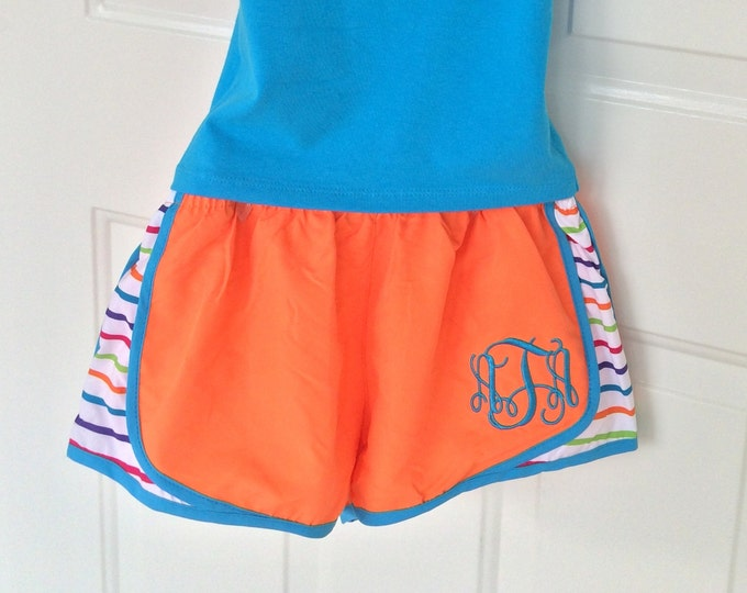 Monogram Running Shorts - Monogram Athletic Shorts - Personalized Cheer Shorts - Team Discounts