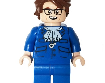 60's Super Spy - miniBIGS Custom Figure made from Genuine LEGO Minifigure Elements - Mario