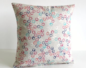 18 Inch Pillow Cover, Decorative Pillow, Pillow Sham, Pillow Covers, 18x18 Pillow, Cushion Cover, Sofa Pillows - Abstract Rings Hot Pink