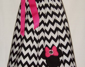 Minnie Mouse Pillowcase Dress / Chevron / Pink / Disney / Newborn / Infant / Baby / Girl / Toddler / Kids / Custom Boutique Clothing