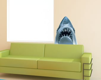 Jaws Shark Removable Reusable Wall Decal Wall Sticker MATTE FINISHED