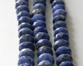 15 inch sodalite strand, facetted center drill 12mm x 7mm to 12mm x 9mm, blue stones