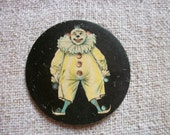 Vintage French Cardboard Print Clown 1930s Old Bagatelle Toy