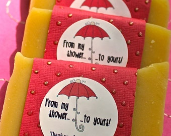 Baby or Bridal Shower Favors, Soaps with From My Shower To Yours Design