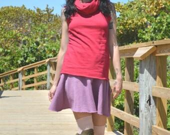 The Miranda Mini Skirt in Organic Hemp Fleece. SUMMER SAMPLE SALE