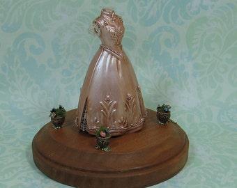 Miniature Pink/Mauve Princess Gown Figurine