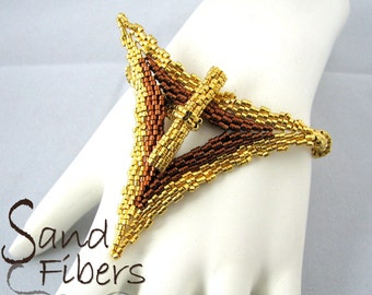 Baroque Simplicity in Gold and Bronze - A Sand Fibers Original Creation