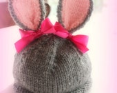 Baby Bunny Beanie Hat - You Choose Colors and Size- Made to Order