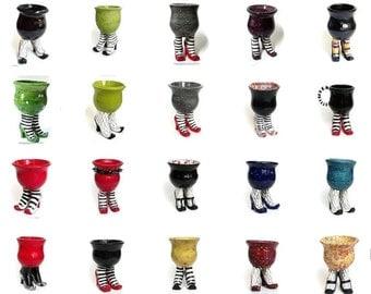 Handmade Ceramic Sex Pot - Made to Order - Ceramic Pot with High Heels