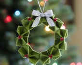 Origami Wreath Ornament PDF PATTERN