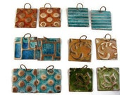 6 Pairs Embossed Patina Earring Components