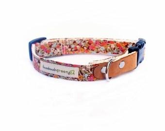 Liberty of London, Lesleys Floral. Modern Dog Collar. Hemp. Eco Friendly. Small-Medium-Large.