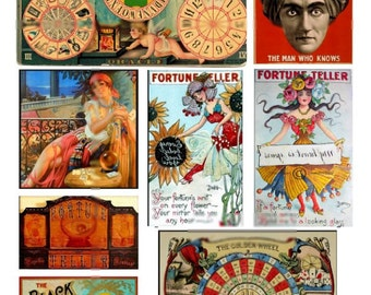 Fortune Tellers No. 2 - Digital Collage Sheet - Instant Download