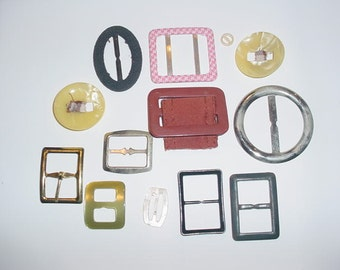 Nice lot vintage antique buckles