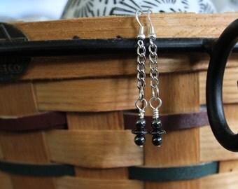 Simply beautiful dangle hematite earrings