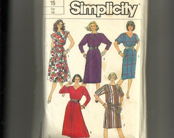 Simplicity Misses' Dresses in Four Lengths Pattern 7551
