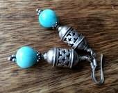 Sterling silver Peruvian Opal earrings