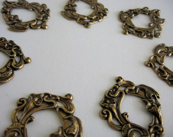 Victorian Style Brass Stamping Antique Gold