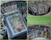 RECOVERiNG HEART HEALiNG ReFLECTIONS SeT Of 24 altered collage art therapy hope ptsd abuse recovery grief loss trauma