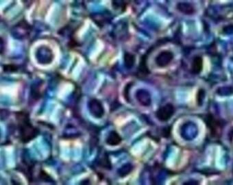 AQV774 Periwinkle Lined Crystal AB Toho Treasure