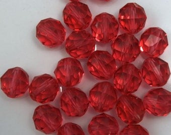 Swarovski 5025 8mm Padparadasha Round Faceted Bead