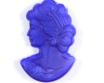 12mm Matte Cobalt Glass Lady's Profile #809