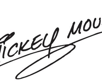 Mickey Mouse Signature Laptop Sticker apple mac decal ipad