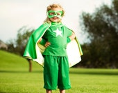 Super Hero Cape Little Hero Cape - Grass and Lime - Blank