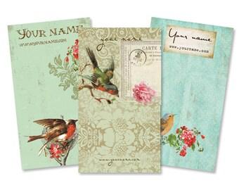 Display Cards  Custom  Earring Cards  Hair Bow Cards  Business Cards  Jewelry Tags  Jewelry Display  Custom Tags  VINTAGE BIRDS 1