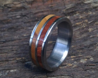 Titanium Ring, Wood Ring, Wedding Ring, Cedar of Lebanon Ring, Mens Ring, Womens Ring, Custom Made Ring, Engagement Ring, Mens Wedding Ring